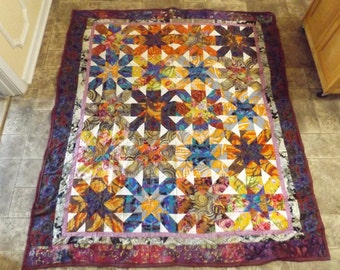 Beautiful Bright Home Made Quilt