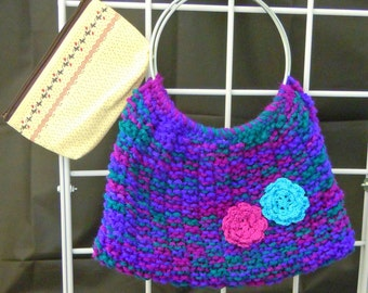 Knitted Tote with Pouch 8