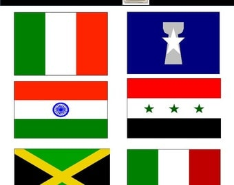 World Flag Clipart - International Flag Clipart - PNG Images - Commercial Use