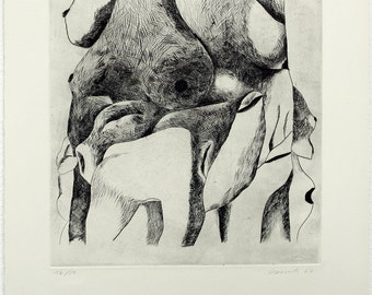 Untitled, 1967. Drypoint by Emil CIMIOTTI