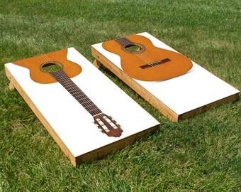 Acoustic Guitar Cornhole Board Set