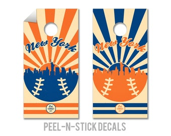 New York Mets Cornhole Board Decals