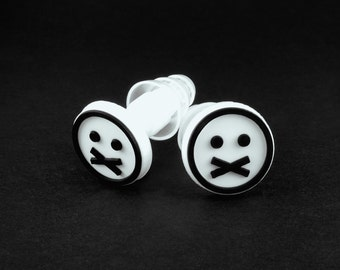Leave Me Alone Plugs with FACE logo.