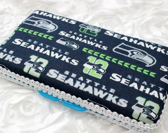 Seattle Seahawks Travel Wipes Case Ready to Ship
