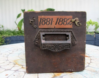 Jeweler's Antique Wooden Storage Box    ~~ REDUCED 30%~~~~
