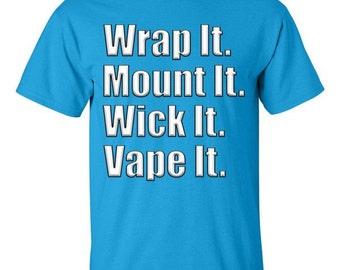 Vape Tshirt, Small, Medium Large, XL, 2XL, 3XL, 4XL, 5XL, Rda, dripper, coil, cloud,wick, 100% cotton, Printed in the USA!