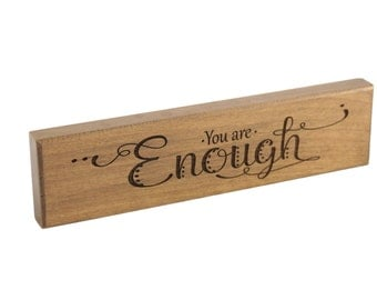 Friendship/ Inspiration/ Bible Verse Art on Wood/ Identity/ Christian Gift/ Scripture Art/ Christian Sign/ Encouragement/ You Are Enough