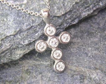 Chubbie 18ct Gold & Diamond Cross Pendant