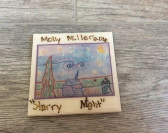 Ceramic tile coasters- PERSONALIZED