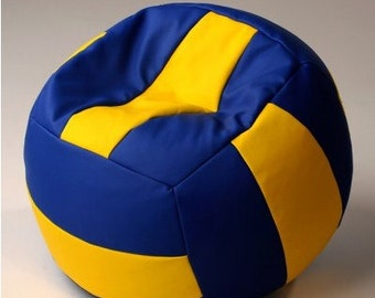 Bean bag chair with FILLING! d =23,65 inches Chair-Ball handmade volleyball