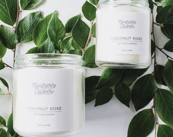 Coconut Rose - Soy Wax Candle