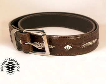 Herman Oak Cobra Inlay belt