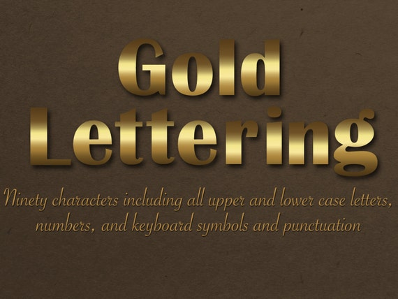off Gold Lettering Digital gold lettering Metallic alphabet