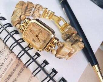 Wood stone watch