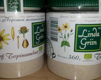 BIO 100% Jerusalem Artichoke (Topinambur) Powder, Inulin, Prebiotic,diabetic, Organic, 12,7oz (360gr), handmade
