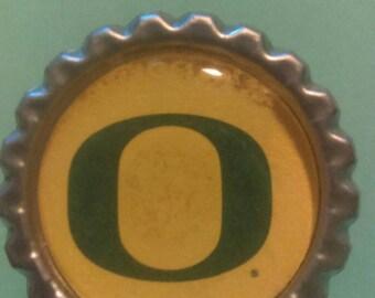 Oregon Ducks O Bottle Cap Magnet