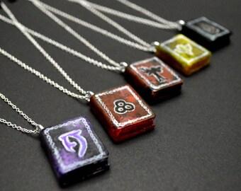 The Elder Scrolls - Handmade Skyrim spell tome pendant