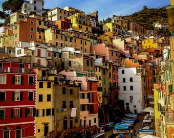 Riomaggiore Italy Print, Cinque Terre Print, Italy Photography Prints, Travel Photography Prints, Italy Print, Cinque Terre Photography,