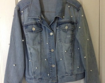 Levi's Embellished Pearl Denim Jacket