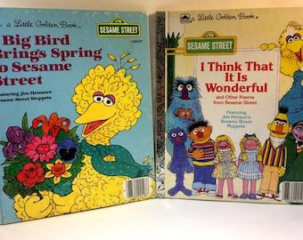 2 Vintage Sesame Street Children's Books (Set of Two)