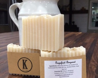All Natural Lye Soap - Grapefruit Bergamot