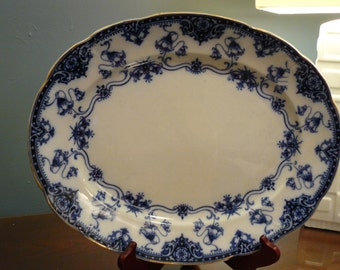 Blenheim Opaque Flo Blue Platter