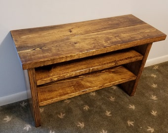 Tall Entryway Shoe Rack and Bench