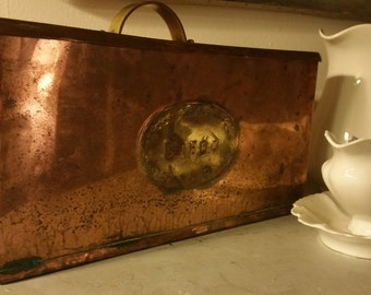 Antique Copper Bread Box