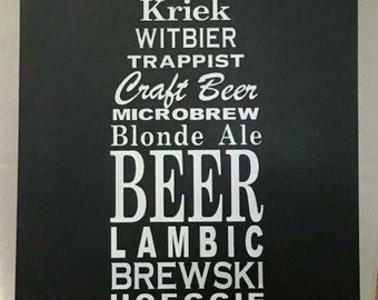 Personalized beer sign