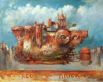 Red Brick Painting, Oil painting
