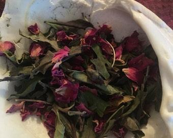 Amalthea White Tea Blend - Rose, Jasmine, Lemon Verbena - 1 oz