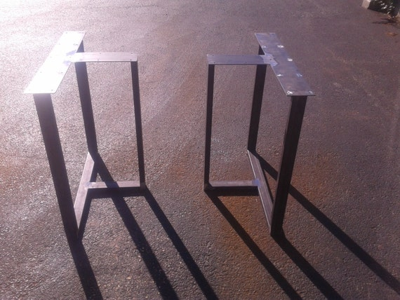 Steel T Shapes : Industrial steel t shaped style metal table desk legs any