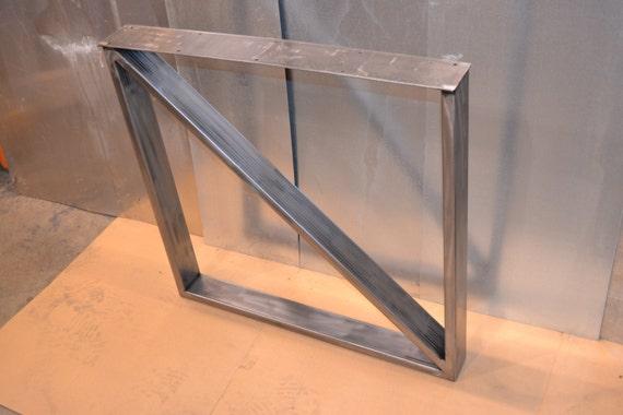 Steel Metal Table Legs Rectangular Cross Brace By