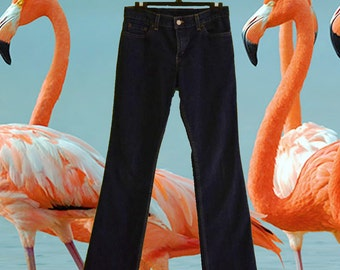 Flamingo Embroidered Vintage Levi's 518 Low Rise Flare Jeans