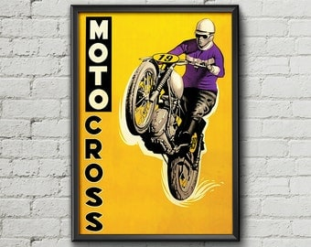 Displays MOTOCROSS 1962 - Garage workshop Vintage - Limited Edition
