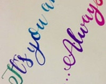 The Vampire Diaries Elena-Stefan Calligraphy