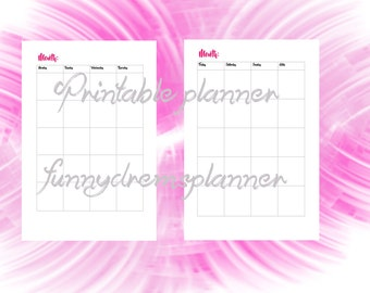 printable calendar refill-instant download-pdf file