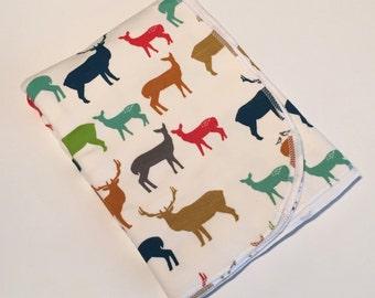 Organic Cotton Baby Blanket, Deer