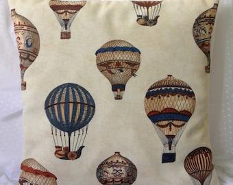 Hot air balloon cushion cover plus insert
