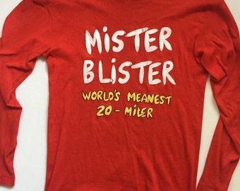 Vintage Long sleave shirt 1960s Munsingwear undershirt orange red size Small Medium