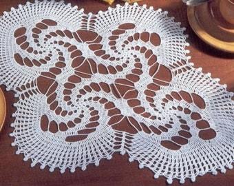 SALE! Handmade White Crochet Doily, Oval Crochet Tablecloth, Crochet Home Decor Table Decorations, Crochet Gifts For Women milky beige black