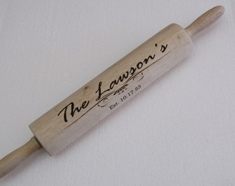 Custom Wooden Rolling Pin