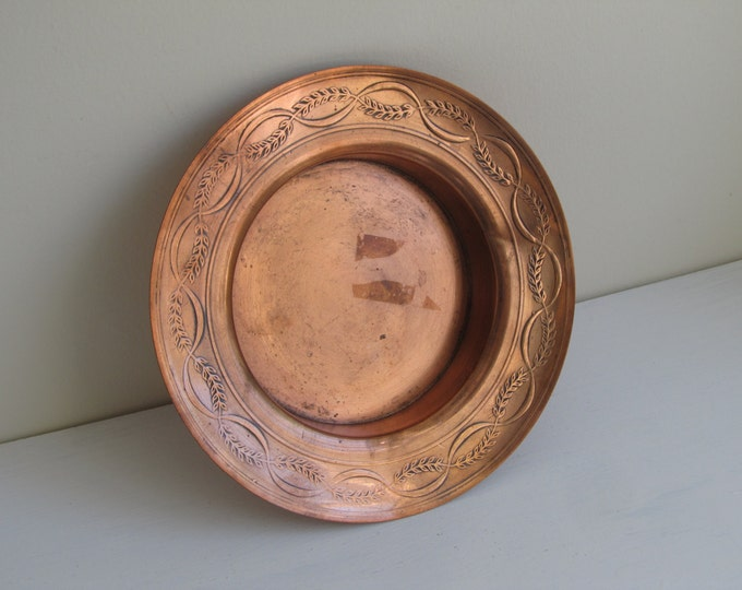 Vintage Copper dish by Peerage, Made in England - key tray, trinket dish, bottle coaster