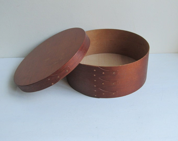 Round pantry box, bamboo bentwood storage box, jewelry box, trinket box, keepsake case