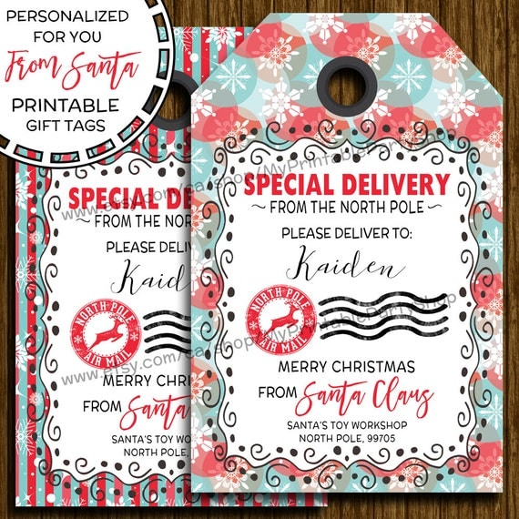Invaluable image within customizable gift tags printable