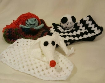 Nightmare Before Christmas Rattles, baby blankets, comforters