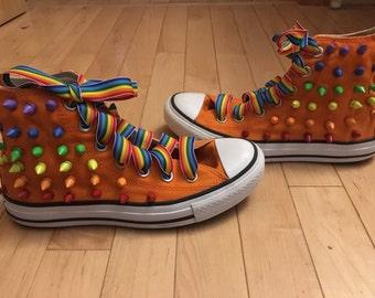 Rainbow spiked cons