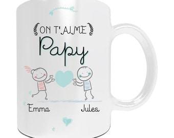 Mug with customize we love you Grandpa