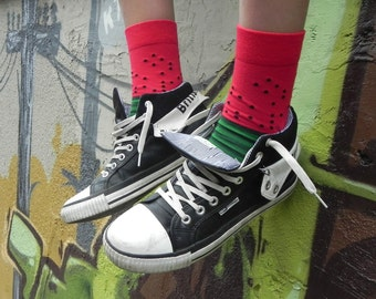 WATERMELON WAVE fruit SOCKS perfect crazy valentines gift for him her I novelty fun party socks I calcetines socken chaussettes