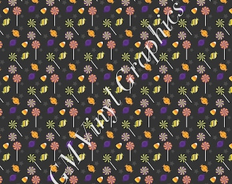 "Halloween Patterned Vinyl / Heat Transfer Vinyl / HTV  12""X18"" candy"